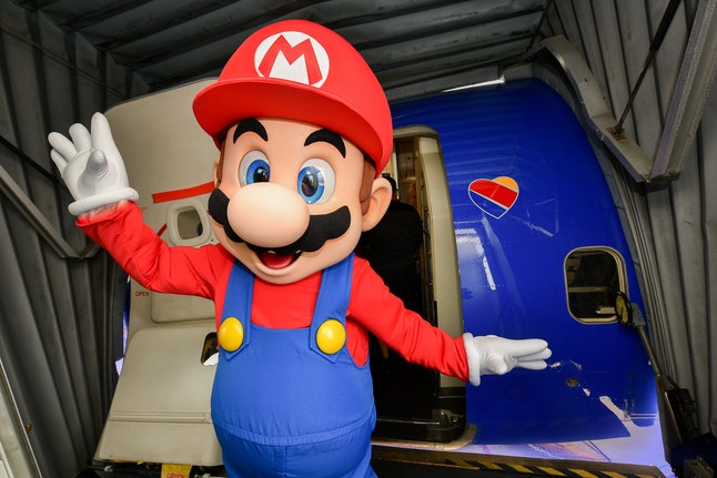 SAN DIEGO, CALIFORNIA - JULY 17: Mario poses for a photo for the Nintendo of America and Southwest A...