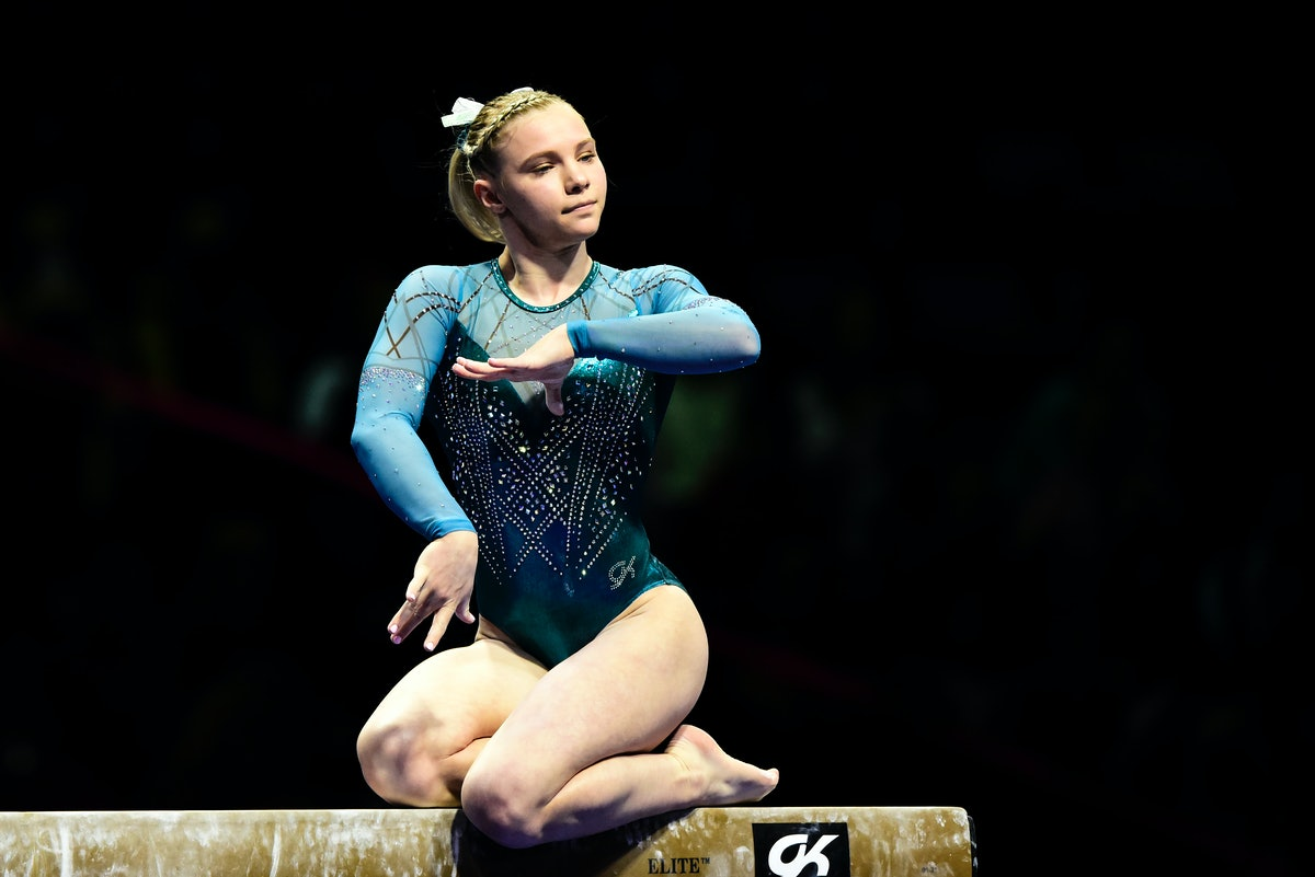 Jade Carey's Best Gymnastics moments before the Olympics include floor and vault routines