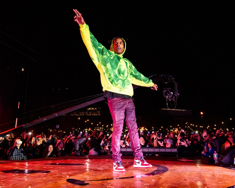 LOS ANGELES, CALIFORNIA - DECEMBER 15: ASAP Rocky performs during 2019 Rolling Loud LA at Banc of Ca...