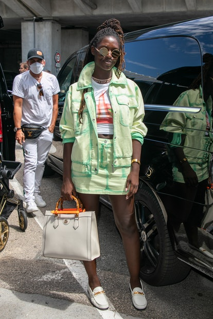 NICE, FRANCE - JULY 07: Jodie Turner Smith arrives for the 74th annual Cannes Film Festival at Nice Airport on July 07, 2021 in Nice, France. (Photo by Marc Piasecki/GC Images)