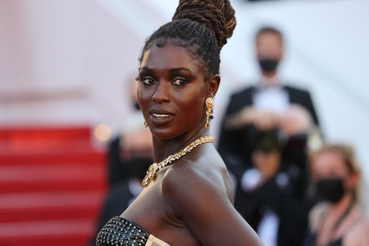 """British actress Jodie Turner-Smith poses as she arrive for the screening of the film """"After Yang"""" as..."""