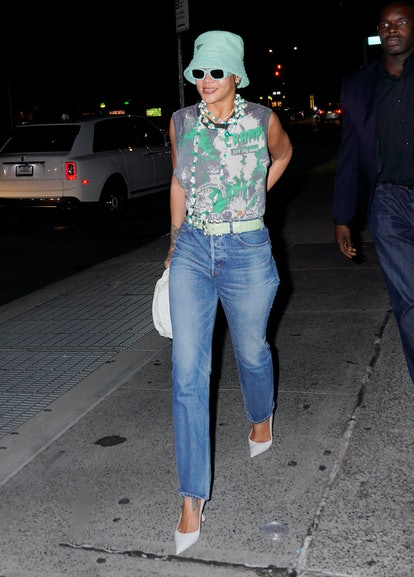 NEW YORK, NEW YORK - JULY 07: Rihanna is seen out and about on July 07, 2021 in New York City. (Photo by Gotham/GC Images)
