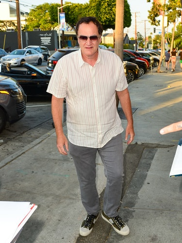 LOS ANGELES, CA - JUNE 30: Quentin Tarantino is seen on June 30, 2021 in Los Angeles, California.  (Photo by JOCE/Bauer-Griffin/GC Images)