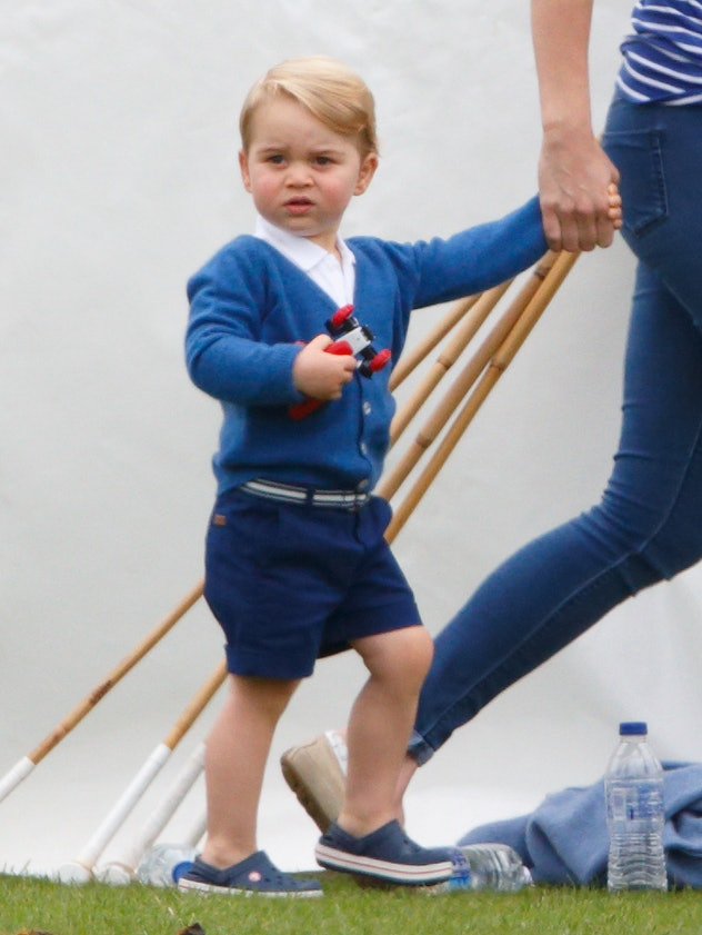 Prince George loves a cardigan and short look.