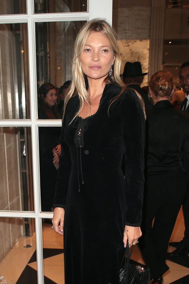 LONDON, ENGLAND - OCTOBER 01:  Kate Moss seen attending The Dior Sessions - book launch party at Dio...