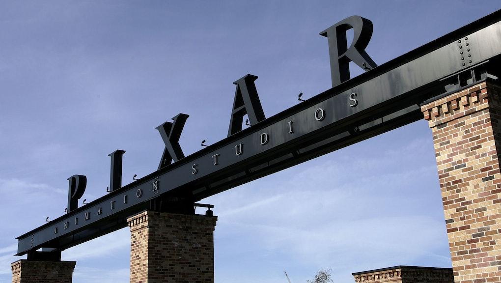 EMERYVILLE, CA - JANUARY 19:  The Pixar logo is seen at the main gate of Pixar Animation Studios Jan...