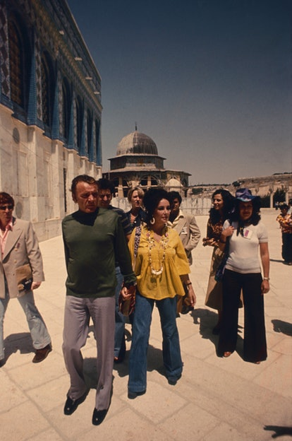 Elizabeth Taylor and Richard Burton in Israel