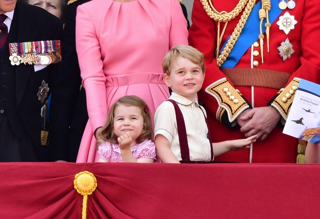 Prince George wore suspenders to the 2017 Trooping.