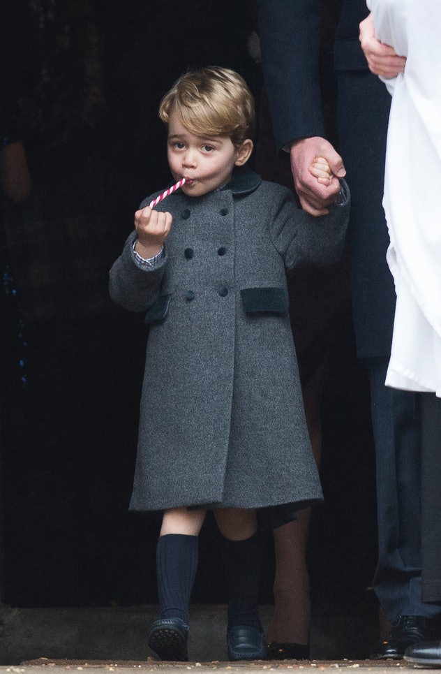 Prince George braves the cold in shorts.