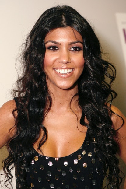 """Kourtney Kardashian at the """"Keeping Up With The Kardashians"""" premiere party on October 9, 2007 in West Hollywood, California. (Photo by Jeff Vespa/WireImage)"""