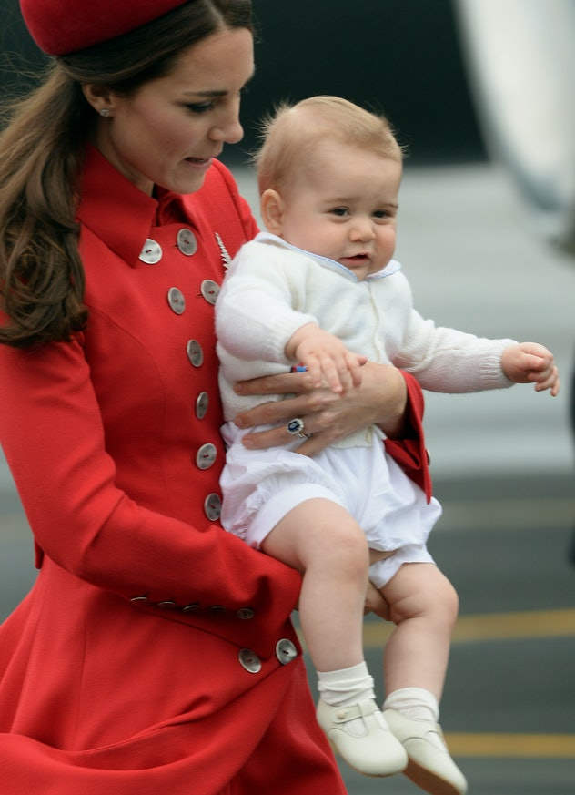 Prince George wore shorts in New Zealand.
