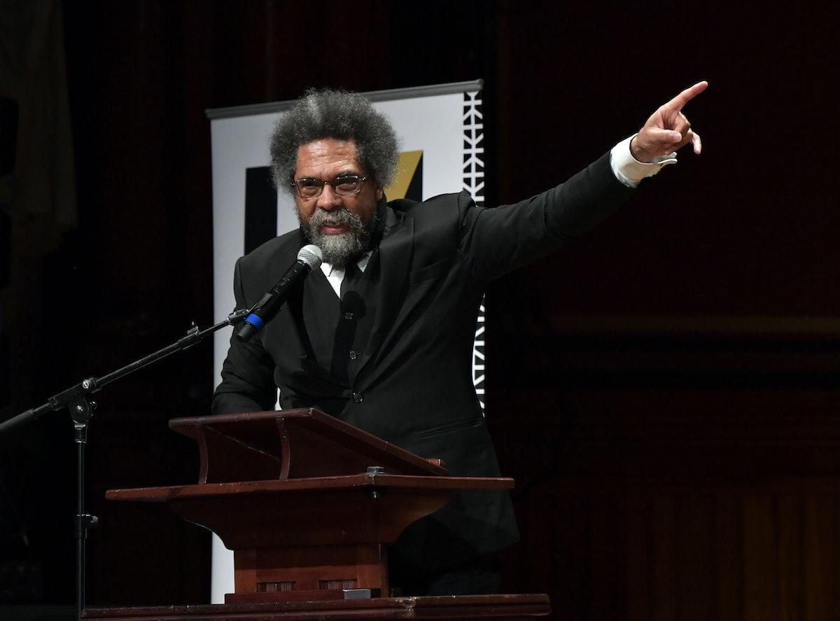 CAMBRIDGE, MA - OCTOBER 22:  Cornel West speaks at the 2019 Hutchins Center Honors W.E.B. Du Bois Me...