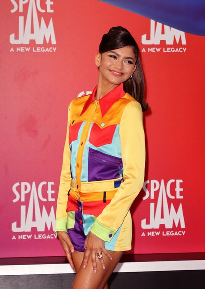 """LOS ANGELES, CALIFORNIA - JULY 12: Zendaya attends the premiere of Warner Bros """"Space Jam: A New Leg..."""