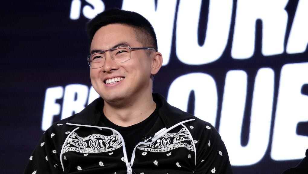 PASADENA, CALIFORNIA - JANUARY 14: Bowen Yang of Nora from Queens attends the ViacomCBS Winter TCA T...