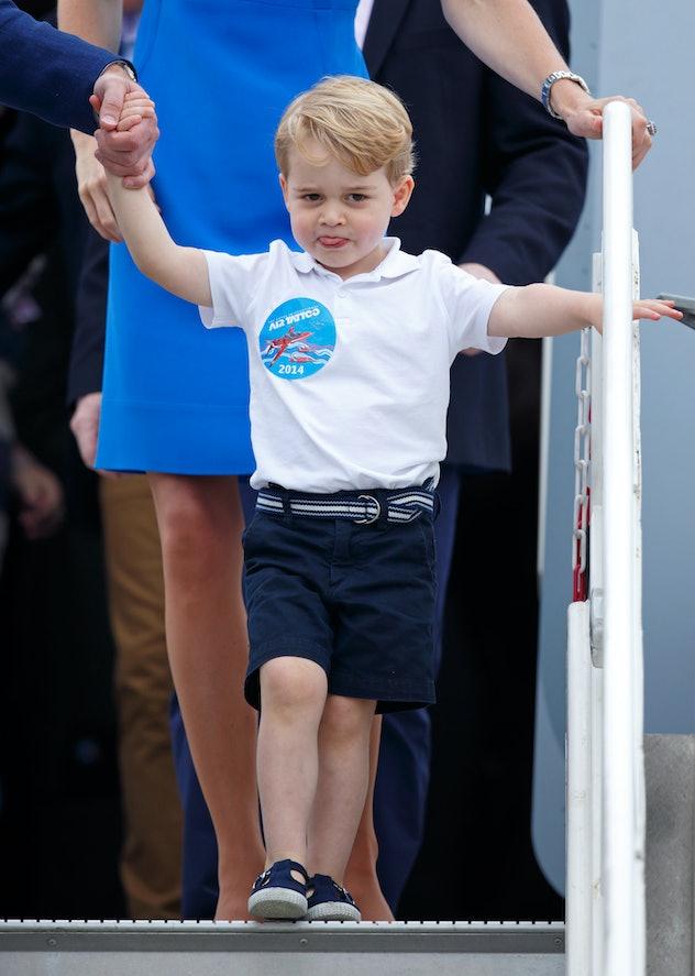Prince George looks adorable.