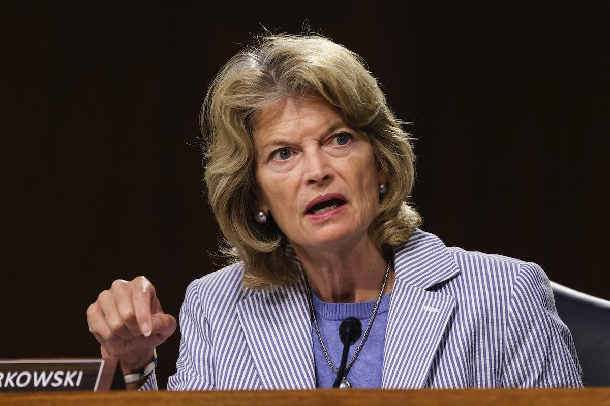 WASHINGTON, DC - JUNE 17: U.S. Sen. Lisa Murkowski (R-AK) speaks during a Senate Appropriations Comm...