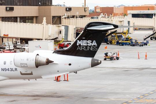 PHOENIX, UNITED STATES - 2020/02/22: Mesa Airlines Bombardier CRJ-900ER aircraft seen at Phoenix Sky...