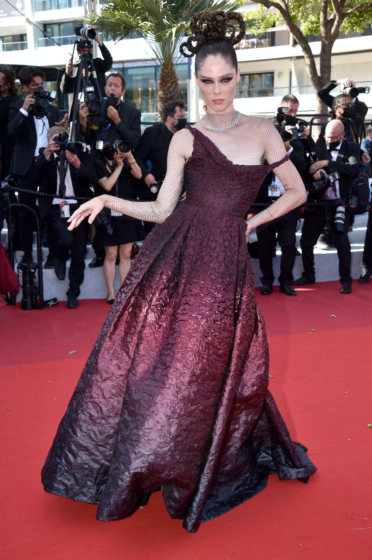 """CANNES, FRANCE - JULY 13: Coco Rocha attends the """"Aline, The Voice Of Love"""" screening during the 74th annual Cannes Film Festival on July 13, 2021 in Cannes, France. (Photo by Lionel Hahn/Getty Images)"""
