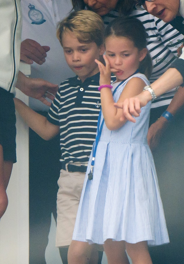 Prince George wore shorts.