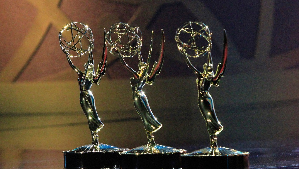 UNSPECIFIED - JUNE 25: In this imaget released on June 25, Emmy Awards are displayed during the 48th...