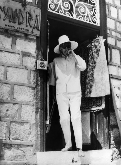 Greta Garbo on Hydra Island in Greece while on vacation