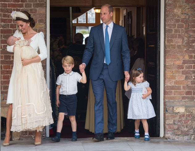 Prince George reprised a classic look for his brother's christening.