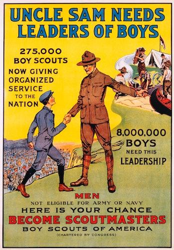 Uncle Sam Needs Leaders of Boys Boy Scouts Poster (Photo by �� Swim Ink 2, LLC/CORBIS/Corbis via Get...