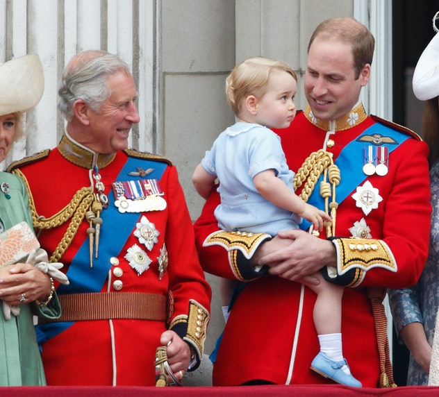 Prince George wore more blue at his first Trooping.