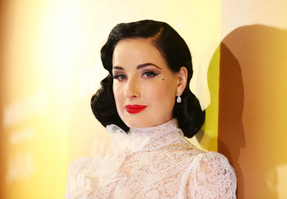 Dita Von Teese is a kinky celebrity who believes in the mind is the sexiest part of the body.