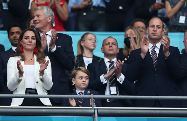 Prince George looked grown up at the Euro Cup.