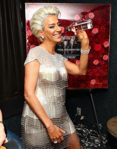 NEW YORK, NY - APRIL 04:  Dorinda Medley drinks Essentia water during New York Season 10 premiere ce...