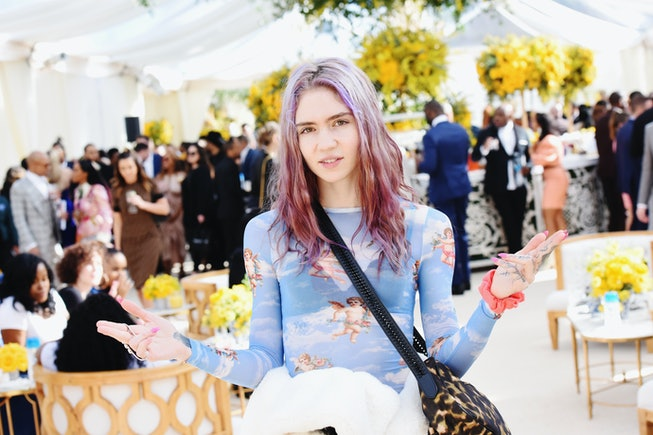 LOS ANGELES, CA - FEBRUARY 09:  Grimes attends 2019 Roc Nation THE BRUNCH on February 9, 2019 in Los...