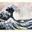 Vintage illustration of The Great Wave off Kanagawa after Hokusai. The Great Wave off Kanagawa, also...