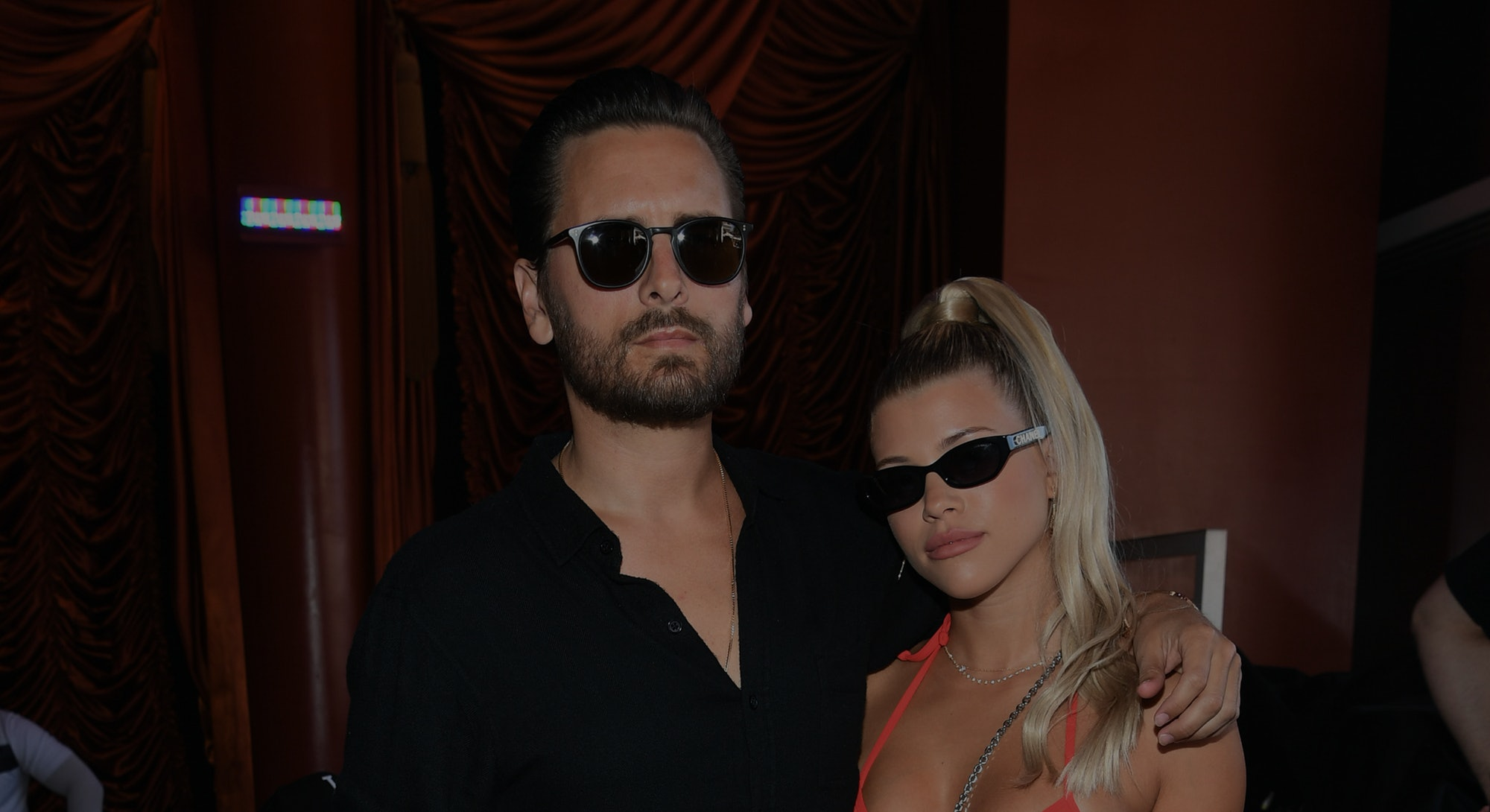 LAS VEGAS, NEVADA - AUGUST 24: Scott Disick and Sofia Richie celebrate Sofia Richie's 21st birthday at Encore Beach Club At Wynn Las Vegas on August 24, 2019 in Las Vegas, Nevada. (Photo by Denise Truscello/Getty Images for Wynn Nightlife)