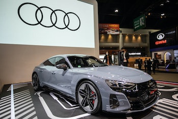 BANGKOK, THAILAND - MARCH 23: An Audi RS e-tron GT car at the Audi stand during the 42nd Bangkok Int...