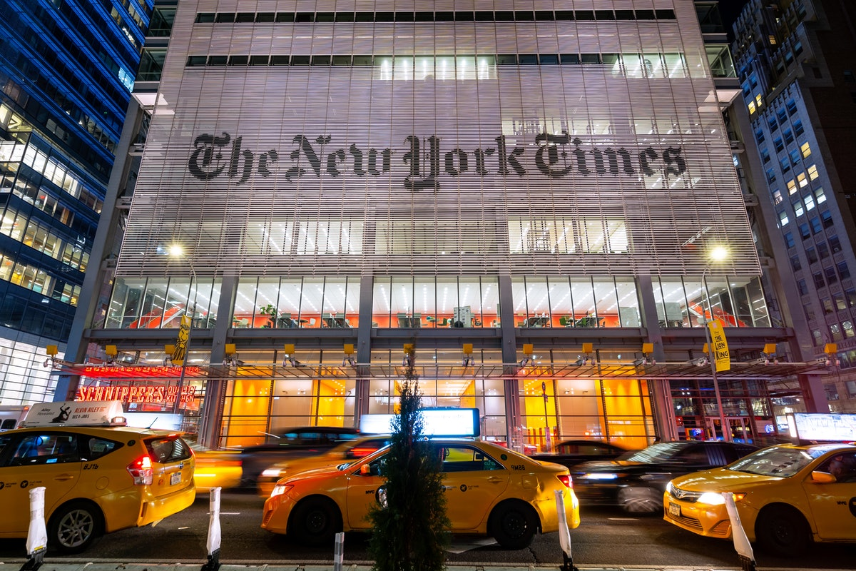 The New York Times Building, New York City, New York, America  Photograph taken at night on Jan 15th...
