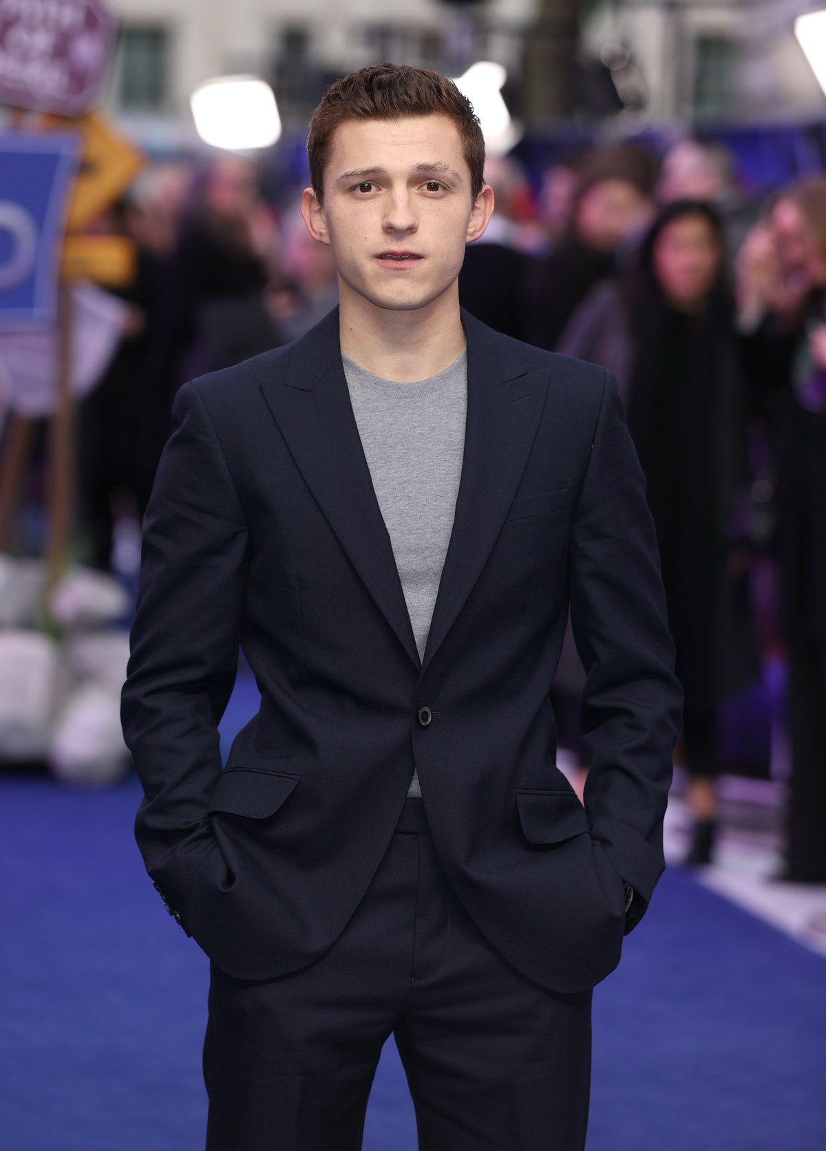 """LONDON, ENGLAND - FEBRUARY 23: Tom Holland attends the """"Onward"""" UK Premiere at The Curzon Mayfair on..."""