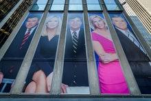 MANHATTAN, NEW YORK, NY, UNITED STATES - 2019/03/13: Giant portraits of the news achors at Fox News ...