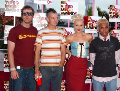 '90s band No Doubt shows off their style while attending a red carpet event together.