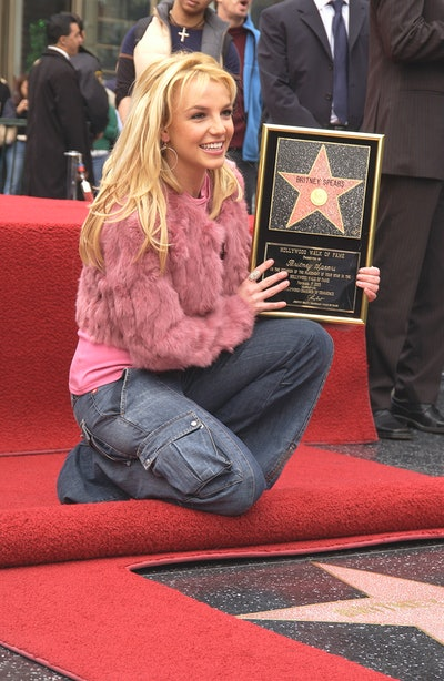 Singer Britney Spears at the star ceremony honoring her on the Hollywood Walk of Fame. (Photo by Frank Trapper/Corbis via Getty Images)