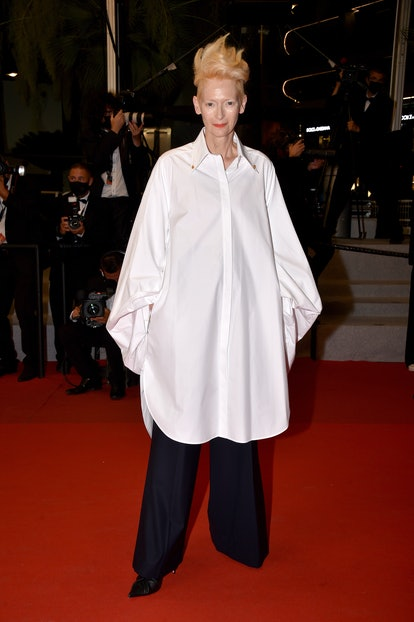 """CANNES, FRANCE - JULY 14: Tilda Swinton attends the """"Les Olympiades (Paris 13th District)"""" screening..."""