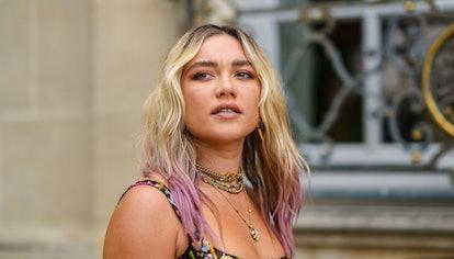 Florence Pugh during Paris Fashion Week in Paris, France in July 2021.