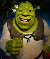 ISTANBUL, TURKEY - OCTOBER 09: (BILD ZEITUNG OUT) A wax figure of Shrek is seen at Madame Tussauds Wax Museum on October 09, 2020 in Istanbul, Turkey. (Photo by Altan Gocher/DeFodi Images via Getty Images)