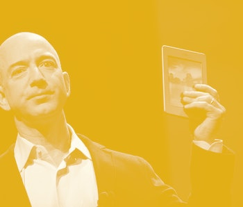 Amazon CEO Jeff Bezos introduces the new Kindle Touch in New York, September 28, 2011. Bezos introdu...
