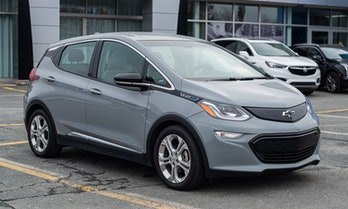 Dartmouth, Canada - January 10, 2021 - A 2021 Chevrolet Volt EV at a Chevrolet/GMC/Buick dealership.