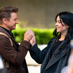 'Hawkeye' stars Jeremy Renner and Hailee Steinfeld. (Photo by Gotham/GC Images)