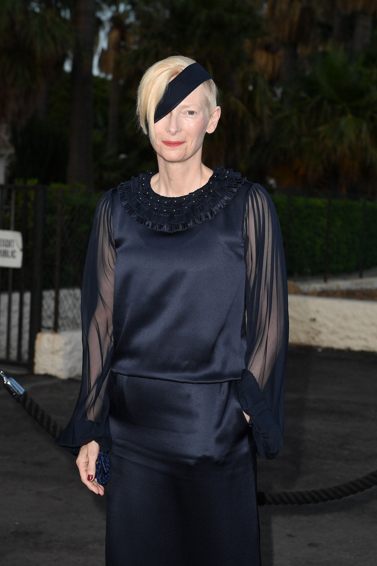 CANNES, FRANCE - JULY 07: Tilda Swinton is seen during the 74th annual Cannes Film Festival at  on J...
