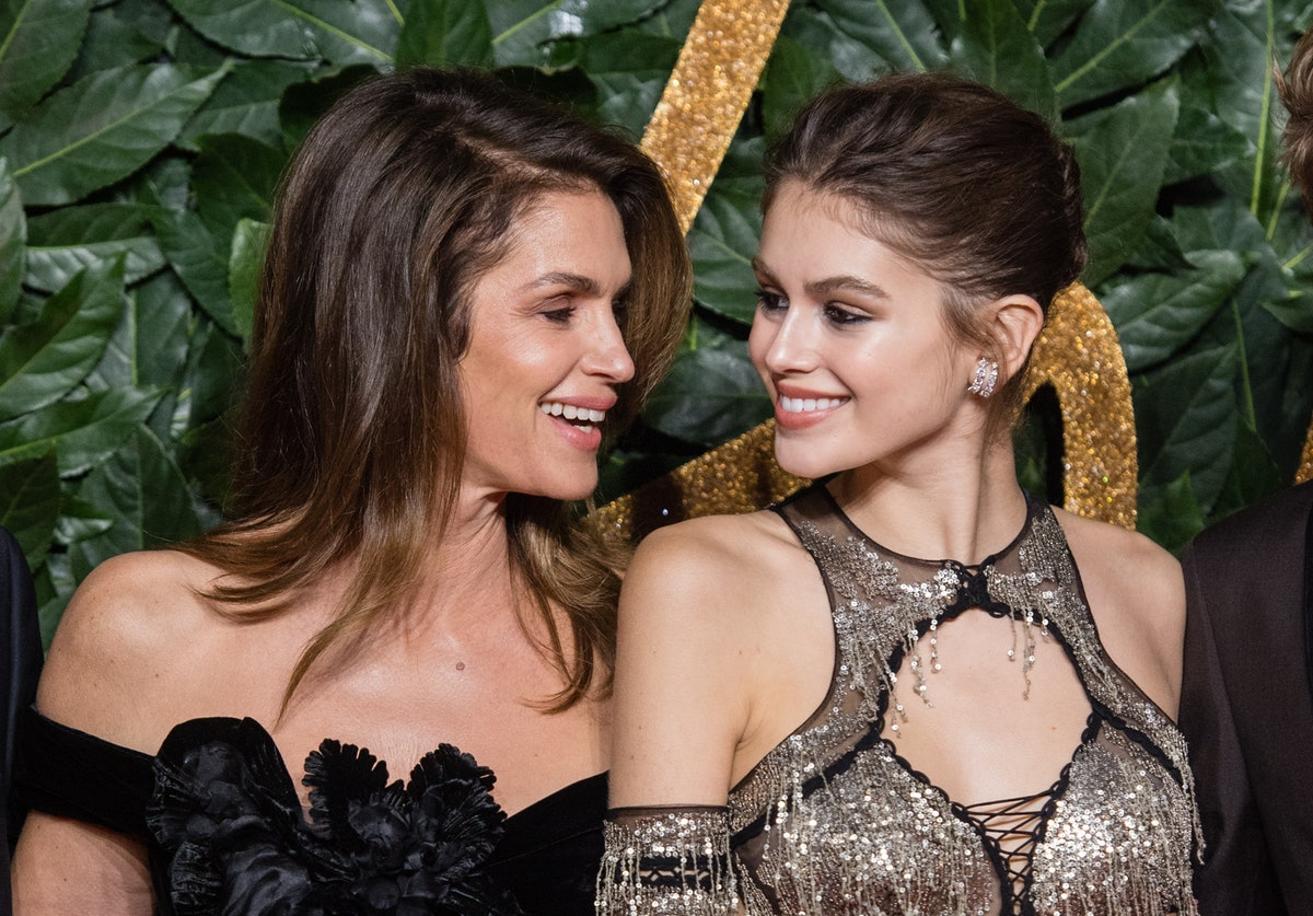 LONDON, ENGLAND - DECEMBER 10:   Cindy Crawford, Kaia Gerber  arrive at The Fashion Awards 2018 In P...
