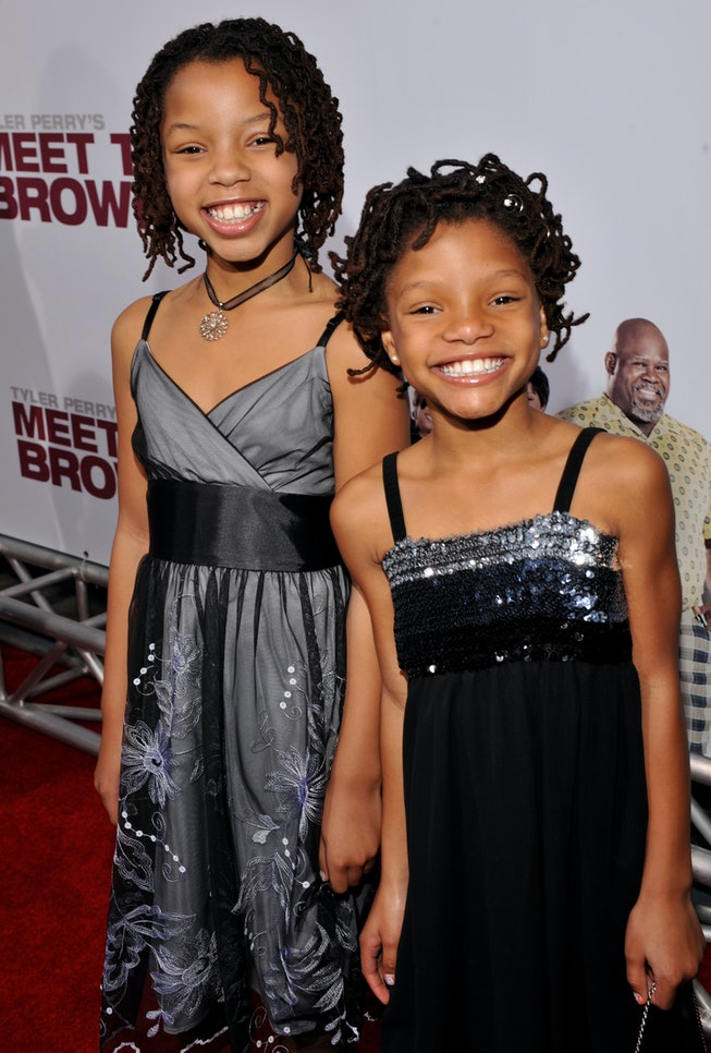 LOS ANGELES, CA - MARCH 13: Actress Chole Bailey and Halle Bailey attend the Lionsgate Premiere of T...