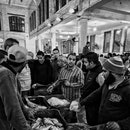 Alexandria Egypt, November 22, 2017: people attending the morning auction at the fish market in Alexandria Egypt.